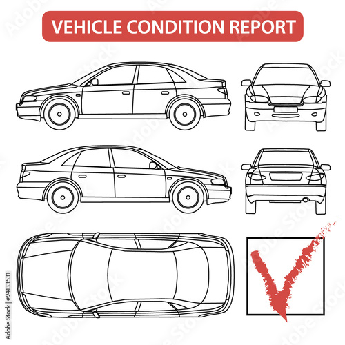 Vehicle Condition Report Car Checklist Auto Damage