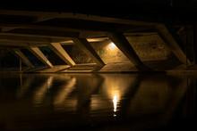 Shelter Under The Bridge At Night