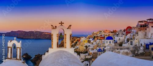 Fototapeta Santorini, Greece - Oia at sunset obraz