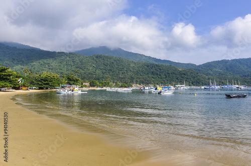 Fotografie, Obraz  Boats in the port in Ilha Grande Island, Brazil