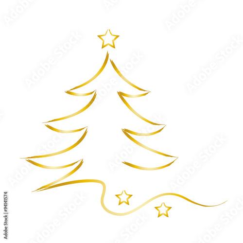 Goldener Weihnachtsbaum Frohe Weihnachten, xmas, x mas, Goldener Weihnachtsbaum mit