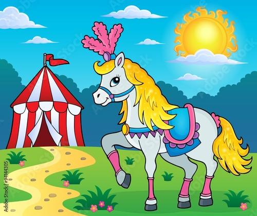 Poster Pony Circus horse theme image 3