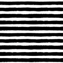 Vector Brush Strokes Black White Pattern