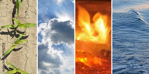 Fotografía  Erde, Feuer, Wasser, Luft