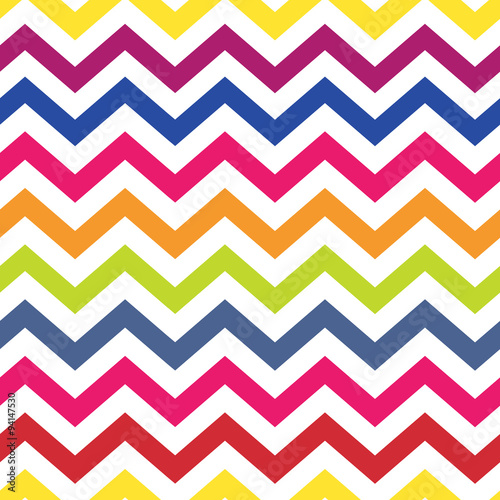 fototapeta na lodówkę Chevron pattern seamless colorful vector