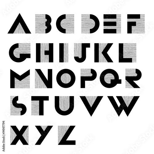 Wide Decorative Retro Alphabet Kaufen Sie Diese Vektorgrafik Und