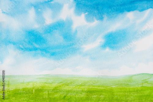 Watercolor painting landscapes