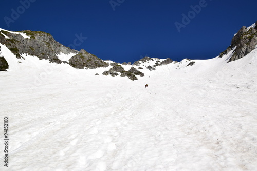 Foto op Plexiglas Alpinisme 残雪の北アルプス