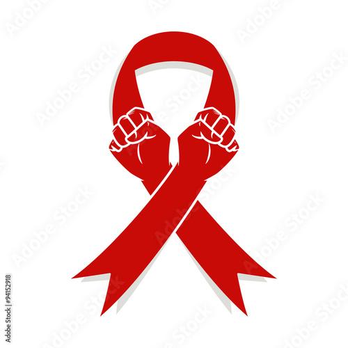 Fight against hiv, aids Canvas Print