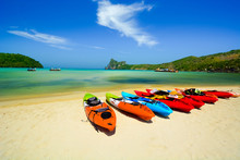 Kayak In Beautiful Beach In Th...