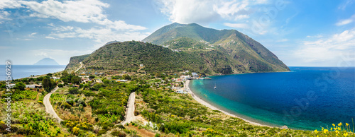 Filicudi island panorama, Aeolian islands, Italy. Canvas-taulu