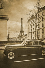 Vintage Retro Old Styled Paris...