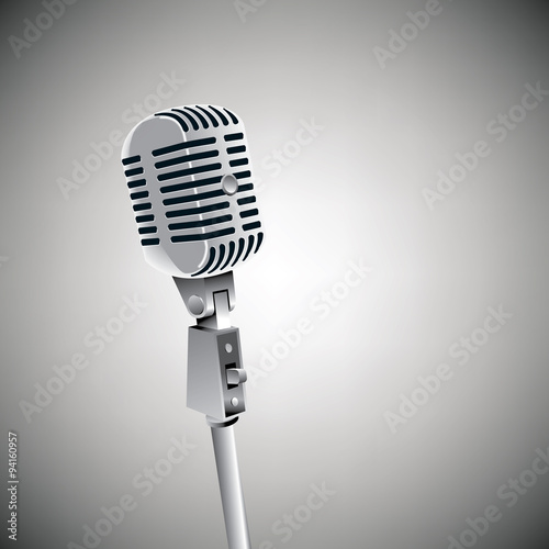Fotografie, Tablou  Vintage mic grunge background with space for text