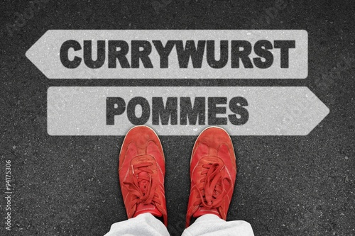 Fotografie, Obraz  th t currywurst pommes I
