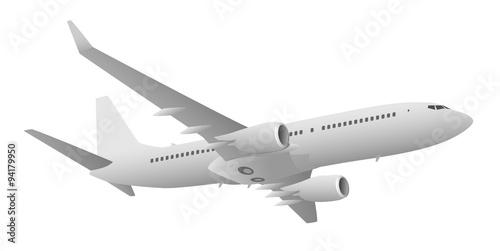 Fotografia  Passenger Jet Airliner Vector Illustration