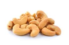 Cashews On White Background