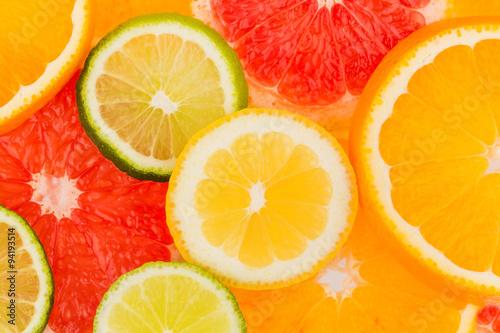 In de dag Plakjes fruit Orangenscheiben