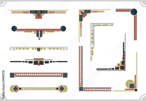 Canvastavla avant-garde design elements. Frame and border