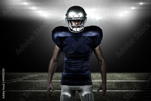 Fotografiet  Composite image of portrait of confident sports man standing