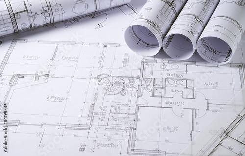 Architecture plans Fototapet