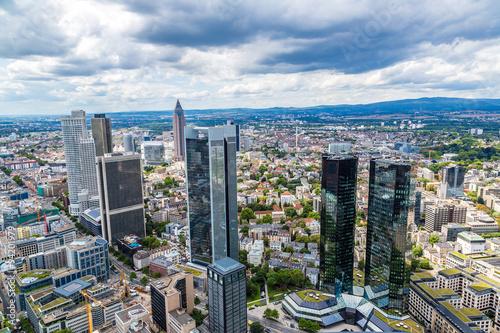 Keuken foto achterwand Seoel Financial district in Frankfurt
