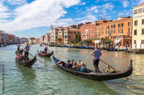 Spoed Fotobehang Gondolas Gondola on Canal Grande in Venice