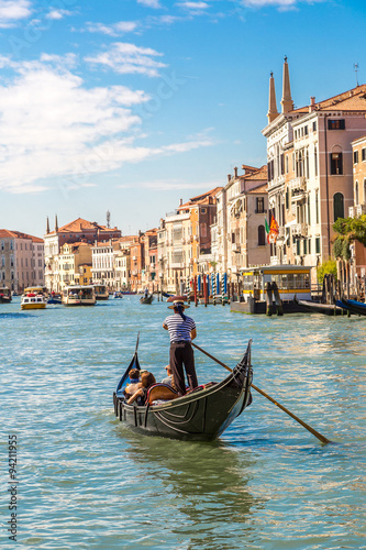 Foto op Aluminium Gondolas Gondola on Canal Grande in Venice