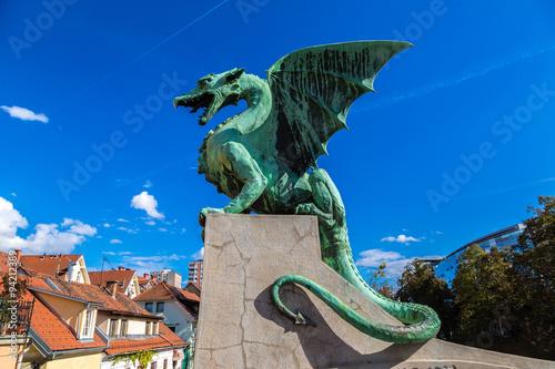 Cadres-photo bureau Dragons Dragon bridge in Ljubljana