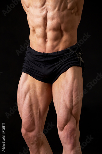 very muscular legs and press - Buy this stock photo and explore ...