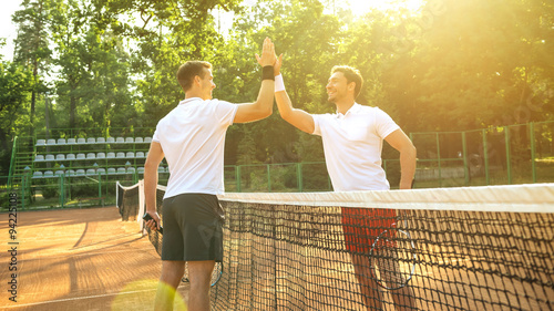obraz dibond Concept for male tennis players
