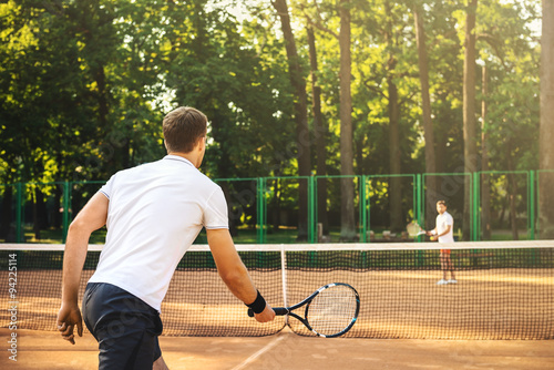фотография  Concept for male tennis players