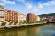 Day view of embankment of Ibaizabal river. Bilbao