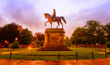 Statue Of George Washington In...