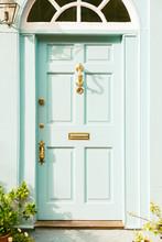 Cottage Door With Vintage Bras...