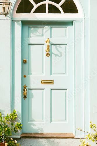 Cottage Door With Vintage Brass Hardware. Location: Boston, USA
