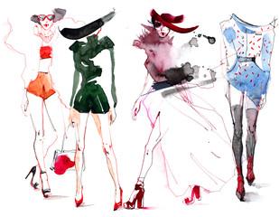 Naklejka fashion
