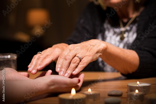 Close-up of spiritualistic seance Tablou Canvas