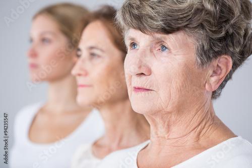 Fotografía  Imagen presentando proceso de envejecimiento