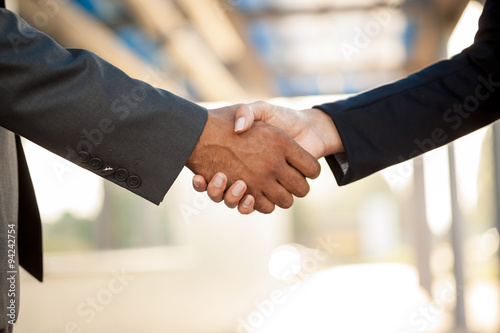 Handshake,blurry background