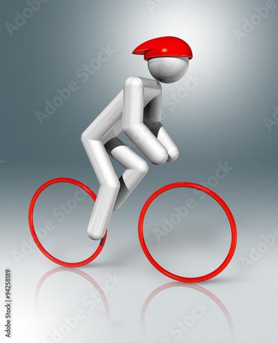 Foto op Plexiglas Fietsen Cycling Road 3D symbol, Olympic sports