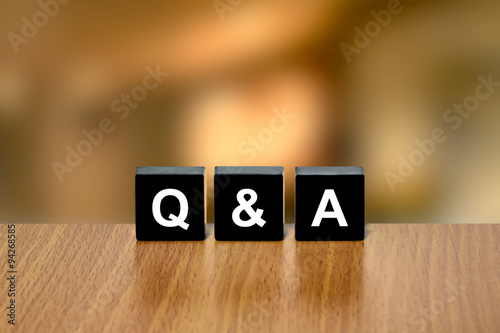 Photo  Q&A or Questions and answers on black block