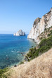 Pan di Zucchero rocks in the sea and Masua's sea stack (Nedida),
