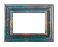 Vintage Worn Blue Picture Frame