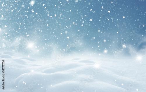 Fotografie, Obraz Winter christmas landscape