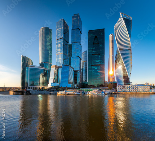 Wall Murals Moscow Moscow City - view of skyscrapers Moscow International Business Center.