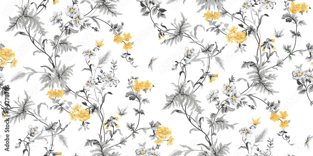Fototapety, obrazy: Echo Floral Seamless Pattern