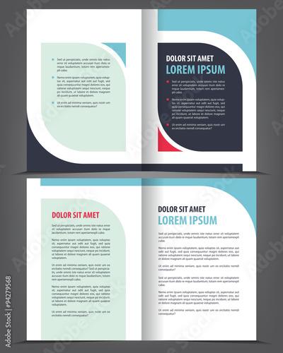 vector empty bi fold brochure print template design booklet layout