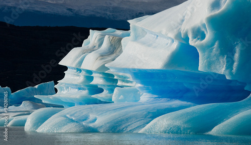 Fotobehang Midden Oosten Icebergs in the water, the glacier Perito Moreno. Argentina. An excellent illustration.