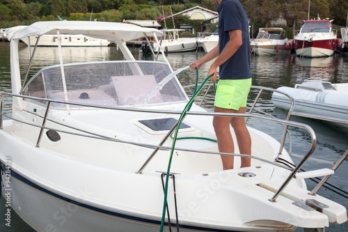 Lavaggio barca Canvas Print