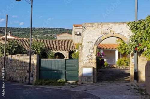 Vineyard Het dorpje Tuili op Sardinië
